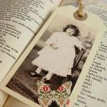 Sweet Little Girl gift tag bookmark