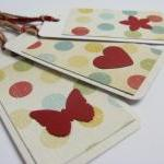 Red on Dots gift tag bookmarks (set..