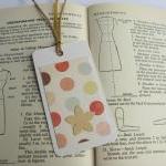 SALE Retro Dotty mini bookmark