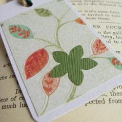 Stylish Foliage gift tag bookmark
